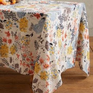 Botanist Knoll Tablecloth by Anthropologie in Multi Size: Tablecloth House & Home