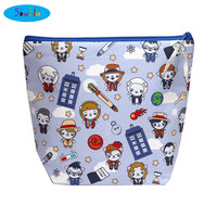 NEW! Knitting Bag-Project Knitting Bag-Doctor Who Bag-TARDIS Sweater Bag-Cat Project Bag-Bag for Knitters-Large Wedge Bag