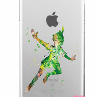 Peter Pan Disney Soft Clear iPhone Case 5,5s,SE,6,6S,6+,7,7+