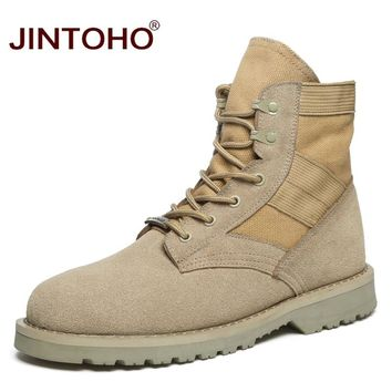 Unisex Fashion Winter Men Boots Ankle Working Safety Boots Casual Winter Men Shoes Male Leather Boots