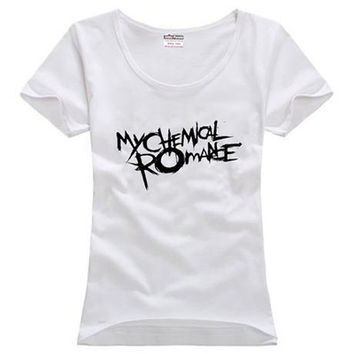 My Chemical Romance Gee Alternative Indie Rock sitcoms couple clothes woman women female cotton T-shirt