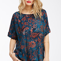Speckled Botanical Print Top