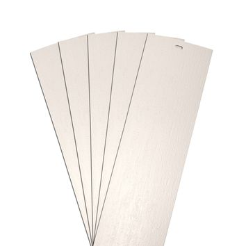DALIX Rustic Vertical Blinds Window Slats Replacement Set Ivory 5 Pack