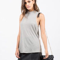 Mock Ribbed Tunic Tank