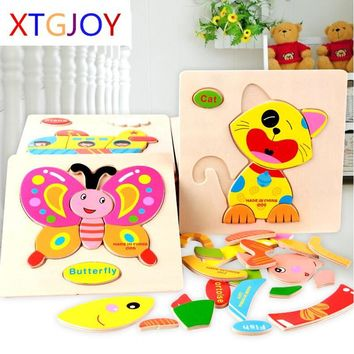 3D Puzzle Wooden Toy (Jigsaw For Children Educational Toys)
