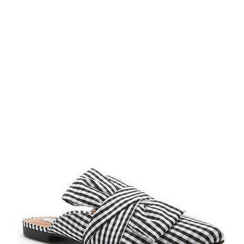 Pointed Toe Loafer Mules