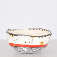Speckled Bowl - Red