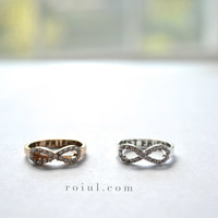 "Stunning ""BEST FRIEND"" Infinity Ring with Crystal Details // Gold or Silver"