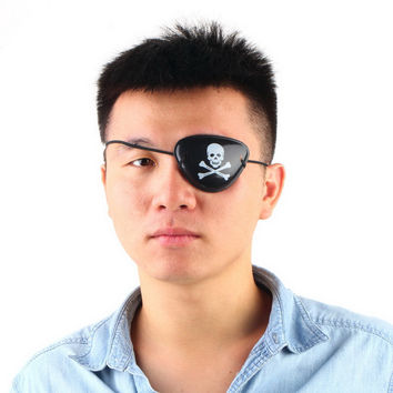 Hot 1PC Pirate Eye Patch Skull Crossbone Halloween Party Favor Bag Costume Kids Toy New
