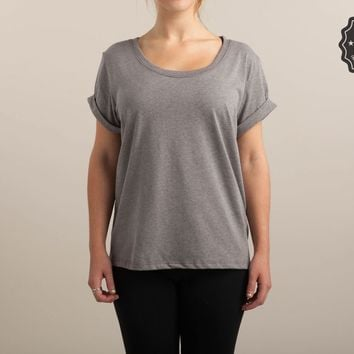 Heather Charcoal Womens Oversized Tee