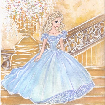 Cinderella Art Print by Carotoki Art And Love