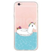 Unicorn Pool Float Case for iPhone