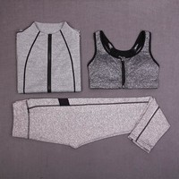 Women Gym Workout Fitness Set Sportswear Gym Training Suit Women Workout Suit Yoga Clothes Sports Bra Set Gym Set