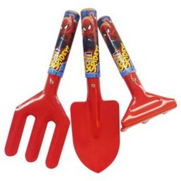 3 Piece Kids Garden Tool Set - Fork, Trowel and Rake - Multi Color - Spider-Man