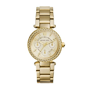 MICHAEL KORS WATCH  WOMEN JETSET MINI PARKER STAINLESS STEEL MK6056