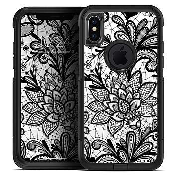 Black and White Geometric Floral - Skin Kit for the iPhone OtterBox Cases