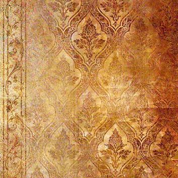 Rust and Damask Printed Photography Background / 323