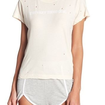 WILDFOX | Distressed Short Sleeve Shirt | Nordstrom Rack