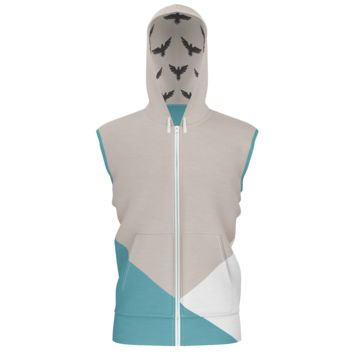 Men's Find Your Coast French Terry Lightweight Sleeveless Colorblock Hoodie