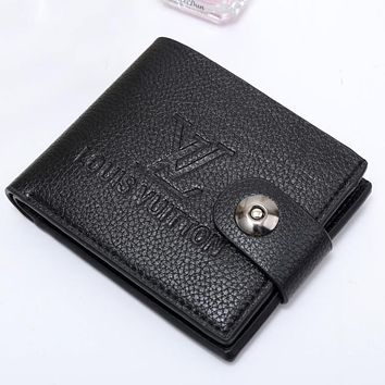 Tagre™ Boys & Men Louis Vuitton Men Leather Purse Wallet