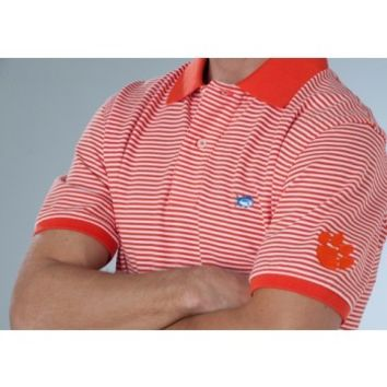 SKIPJACK COLLEGIATE STRIPED POLO - CLEMSON UNIVERSITYStyle: 3510_CLM02