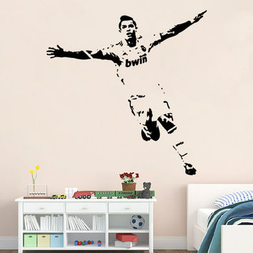 Football Wall Sticker Boy Bedroom Decoration Stickers [4923136708]