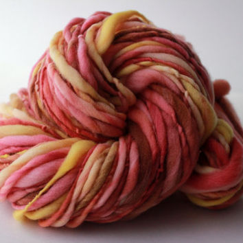Gentle Thick and Thin Handspun Merino Wool Yarn - Single Ply Bulky Weight