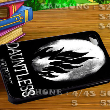 Divergent Dauntless The Brave Art - For iphone 4 iphone 5 samsung galaxy s4 / s3 / s2 Case Or Cover Phone.