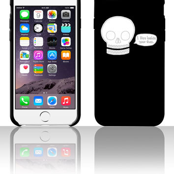 Skull humor I live inside your face 5 5s 6 6plus phone cases