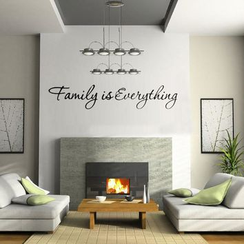 Home Bedroom Decor DIY Wallpaper English Quote Family is Everything Removable Art Words Wall Sticker