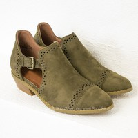 Olive Suede Sofia Booties