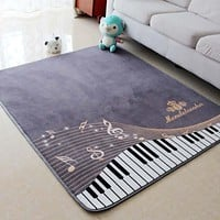 130X150CM Piano Notes Carpets For Living Room