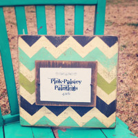 Distressed Wood 4x6 Picture Frame with by PinkPaisleyPaintings