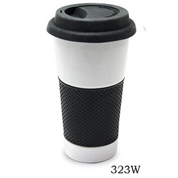Ceramic Coffee & Tea Cup with Silicone grip