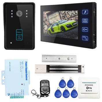 Home security Video Intercom System RFID Access + Magnetic Lock