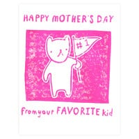Favorite Kid Mother's Day Card