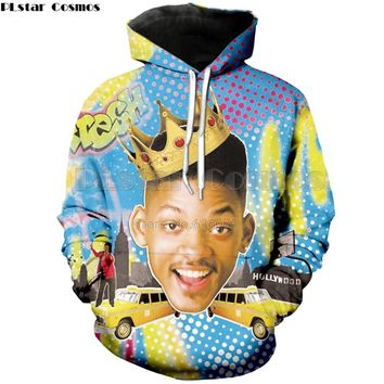 PLstar Cosmos 2018 New Fashion Mens Womens Hooded sweatshirt The Fresh Prince of Bel-Air Will Smith 3d Print casual hoodies