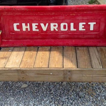 Vintage Tailgate Benches