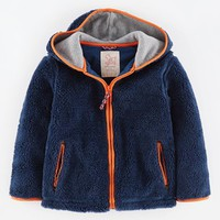 Boy's Mini Boden Plush Fleece Hoodie,