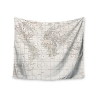 "Catherine Holcombe ""The Old World Cream"" White Wall Tapestry"