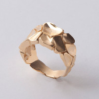 Parched Earth No.4 - 14K Gold Ring, unisex ring, wedding ring, wedding band