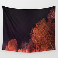 Firey woods Wall Tapestry by HappyMelvin