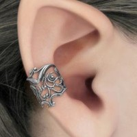 Lace Allure Silver Filigree Ear Cuff by RavynEdge on Etsy