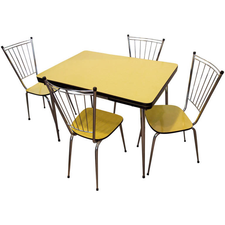 Mid-Century Yellow Formica Kitchen Table From 1stdibs