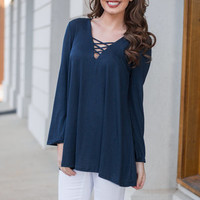 The Janice Tunic, Navy