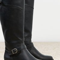 AEO Women's Buckle Strap Riding Boot