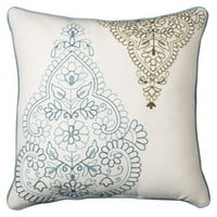 """Threshold™ Embroidered Global Toss Pillow - Blue (20x20"""")"""