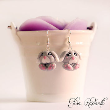 TIPPY bunny earrings - polymer clay