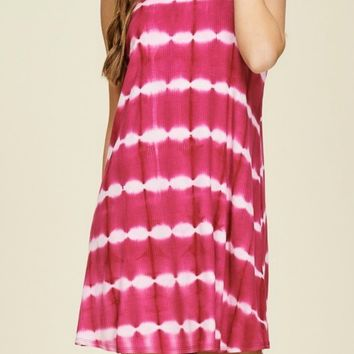 Born to Run Fuchsia Tie Dye Dress