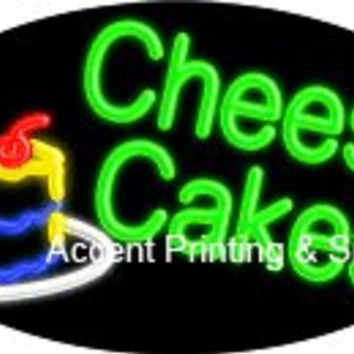 Cheese Cakes Flashing Handcrafted Real GlassTube Neon Sign